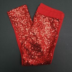 Red Sequin Legging Girls Size 4